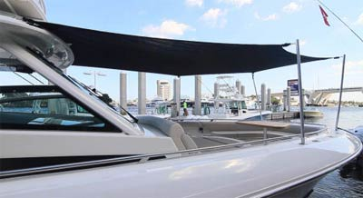 Boat Sunshade Forward