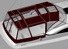 State of the Art Technology, CAD Rendering of Boat Top