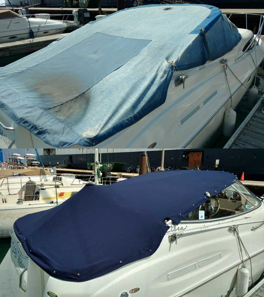 Winter Cover for 50′ Center Cockpit Sailboat » Rock Hall ...