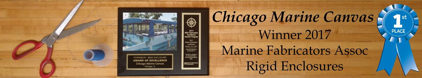 Chicago Marine Canvas - 2017 Marine Fabricator Association Winner