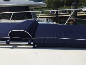 Sea Ray 500 Custom Sunpad Detail Of Head Rest