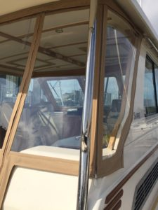 Sabre Hardtop Express 42' Custom Aft Enclosure by Chicago Marine Canvas