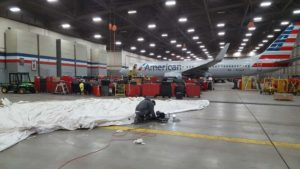 Repair Inflatable Engine Shelter For American Airlines Airplane