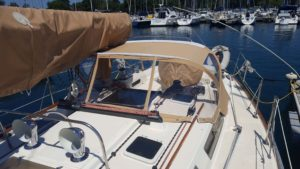 Custom Sailboat Dodger, Sail Cover, Helm Cover, Winch Covers